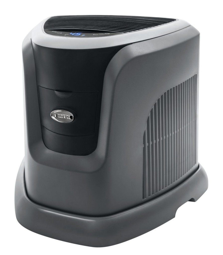 Essick Air EA1201 Digital Whole-House Console-Style Evaporative Humidifier, Mini, Silver and Black Design