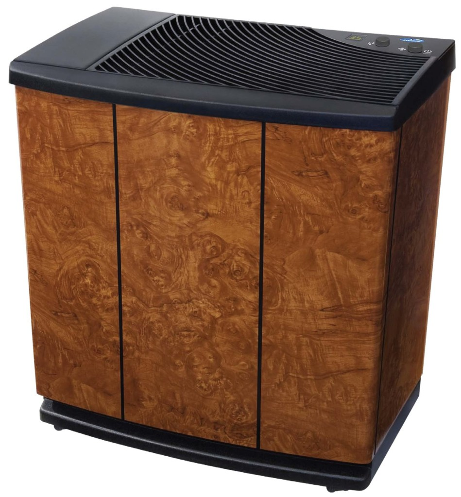 whole home humidifier reviews - Essick Air H12-400HB 3-Speed Whole House Evaporative Console Humidifier, Oak Burl